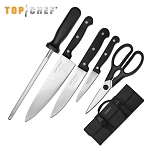 Top Chef Classic 6 Piece Carrying Case Kitchen Knife Set