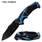 EDC Pocket Knife For Sale Spring Assisted Knife Black Blue Handle