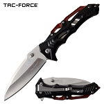 Tactical Pocket Knife Spring Assisted Knife Stylish Black Aluminum Handle