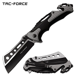 Tac Force Tactical Knives Pocket Knife Spring Assisted Knife Black Gray