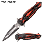 Pocket Knife 8.25 Inch Tac Force Spring Assisted Knife Red