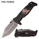 Punisher Pocket Knife Black Aluminum Handle Spring Assisted Knife