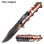 American Flag Handle Spring Assisted Knife Tactical Pocket Knife