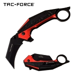 Jaguar Claw Karambit Style Spring Assisted Folding Pocket Knife Red