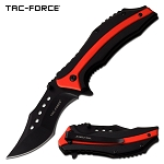 Pocket Knife Spring Assisted Knife Black Red Aluminum Handle