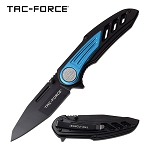 Wing Handle Spring Assisted Folding Pocket Knife Black Blue