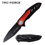 Wing Handle Spring Assisted Folding Pocket Knife Black Red