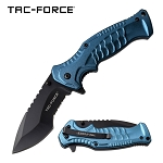 Scales on Handle Spring Assisted Folding Pocket Knife Blue