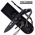 Tac Force Fixed Blade Outdoor Survival Knife Compass Fire Starter Lanyard
