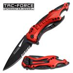 Tac Force Pocket Knife Fire Fighter Spring Assisted Knife Bottle Opener