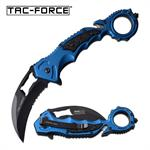 Karambit Style Tac Force Spring Assisted Folding Pocket Knife Blue