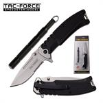 Tac Force Spring Assisted Folding Pocket Knife with Tactical Kubaton