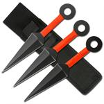 3 Piece Ninja Throwing Knife Set with Pouch