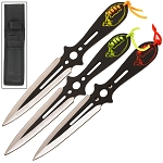 Deadly Force Alien Revolution Target Practice Ninja Throwing Knife 3 Pc Set
