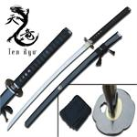 41 Inch Reverse Blade Hand Forged Samurai Katana Sword with Black Scabbard