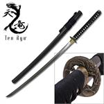 Ten Ryu 42 Inch Handmade 1045 Carbon Steel Blade Samurai Sword Black