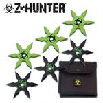 Zombie Hunter 6 Piece Throwing Star Set with Bio Pouch