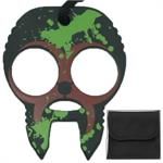 Zombie Clobbering Skull 2 Finger Self Defense Knuckles Brown