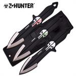 Z-Hunter Punisher Skull 3 Piece Throwing Knife Set