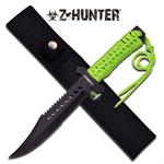 Z-Hunter 11.5 Inch Fixed Blade Knife - Green Cord Wrapped Handle