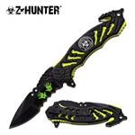 Z-Hunter Apocalypse Survivor Tactical Spring Assisted Knife - Yellow