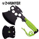 Zombie Hutner Green Hatchet Axe - Knuckle Design Axe Blade