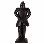 Suit of Armor Medieval Knight Black Finish Decorative Collectible