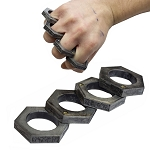 Hexagon Kung Fu Finger Magic Ring Self Defense Knuckle Survival Tool