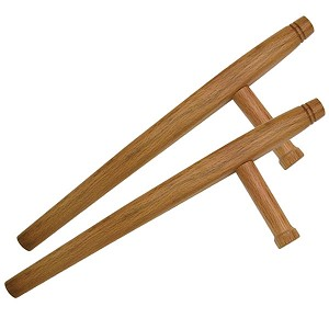 Natural Tonfa 2 Piece Set