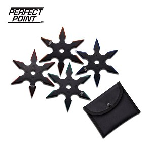 Perfect Point Ninja and Martial Arts Throwing Star 4 Piece Set