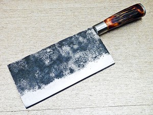 High Carbon Steel Handmade Kitchen Chef Cleaver Knife 13""