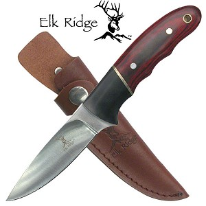 Elk Ridge Drop Point Skinner Knife with Pakkawood Handle