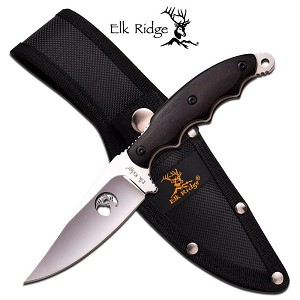 Elk Ridge 8 Inch Fixed Blade Hunting Knife -  Mirror Blade