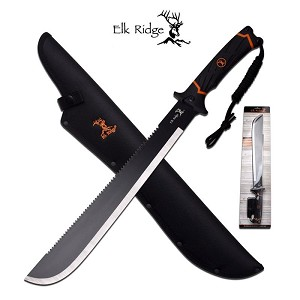 Elk Ridge Outdoor Hunting Sawback Machete Knife