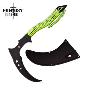 Fantasy Master 16.25 Inch Fixed Blade Tactical Knife Green Cord Handle