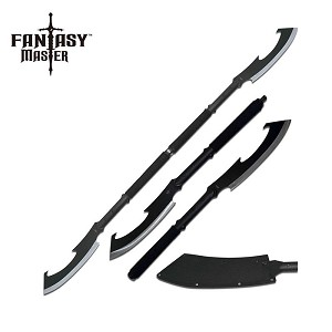 Fantasy Master 27.75 Inch Overall 2 In 1 Short Sword Black Handle