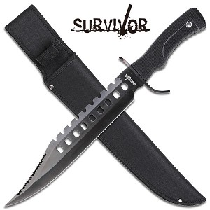 Survivor 17 Inch Length 4MM Thick Blade Bowie Knife