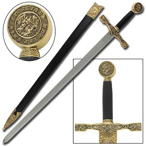 King Arthur Excalibur Replica Longsword - Gold