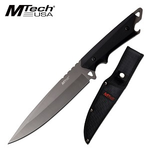 Fixed Blade Hunting Knife 6.25 Inch Spear Point Full Tang Blade Grey