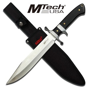 15 Inch Mtech Sub-Hilt Fixed Blade Knife with Wood Handle