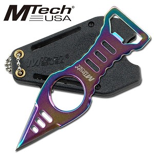 Mtech Titanium Finish Neck Knife with Kydex Sheath & Clip