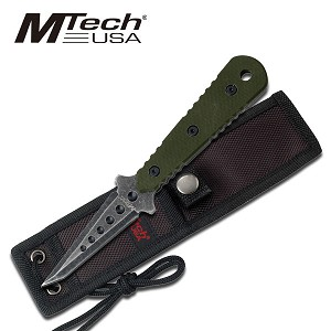 Mtech 3MM Thick Fixed Blade Boot Knife - Green G10 Handle