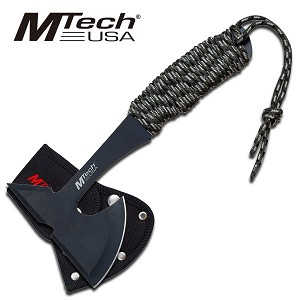 9 Inch Tactical Tomahawk Throwing Axe Hatchet with Camo Cord Wrapped Handle