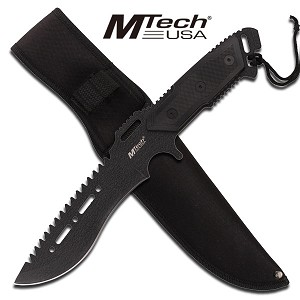 MTech Full Tang Tactical Combat Fighting Knife With Nylon Sheath