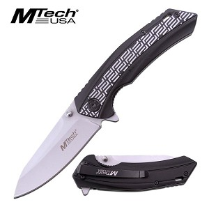MTech USA Pocket Folding Knife 2 Tone Black Handle
