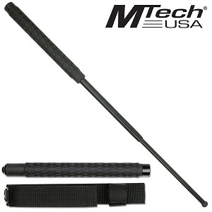 26 Inch Extendable Baton with Textured Rubber Handle and Nylon Sheath