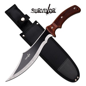 15 Inch Big Jumbo Size Fixed Blade Survival Bowie Knife