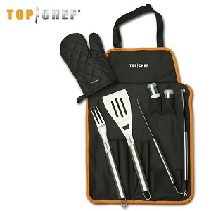Top Chef 7 Piece BBQ Chef Knife Stainless Steel Set
