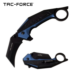 Jaguar Claw Karambit Style Spring Assisted Folding Pocket Knife Blue