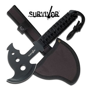 Military Combat Axe With Sheath